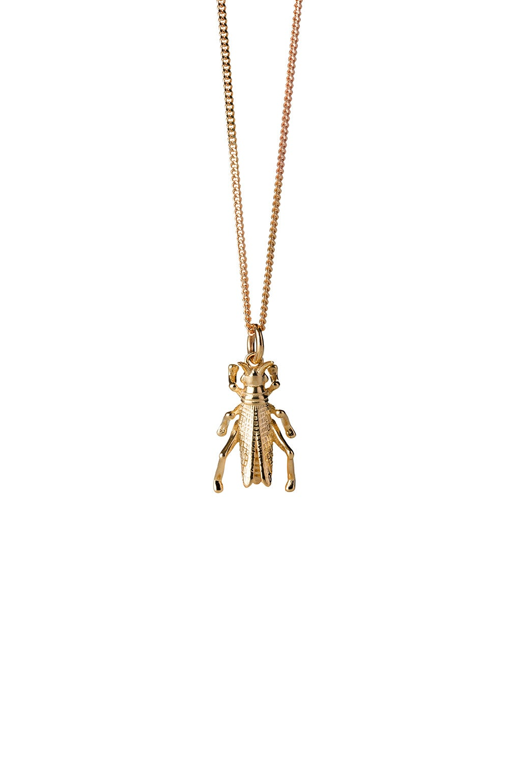 Grasshopper Necklace Gold