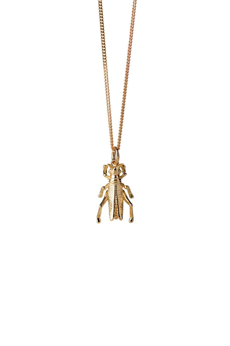 Grasshopper Necklace Gold