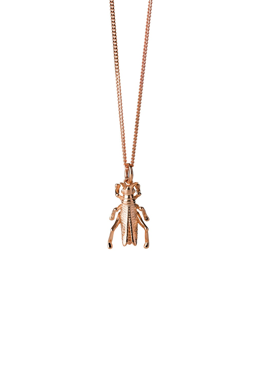 Grasshopper Necklace Rose Gold