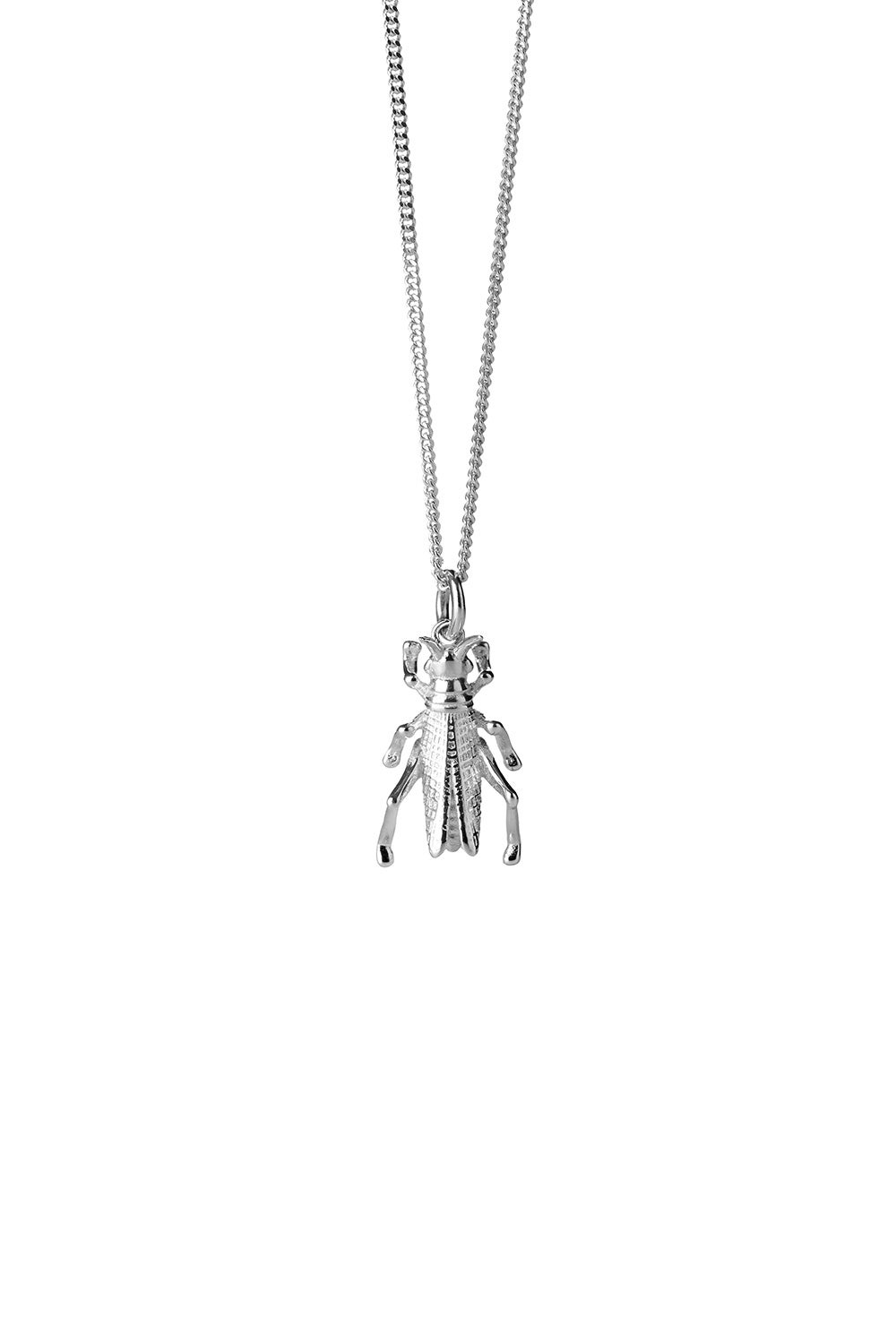 Grasshopper Necklace Silver