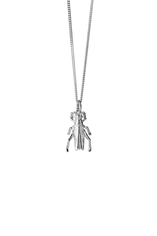 Grasshopper Necklace Silver