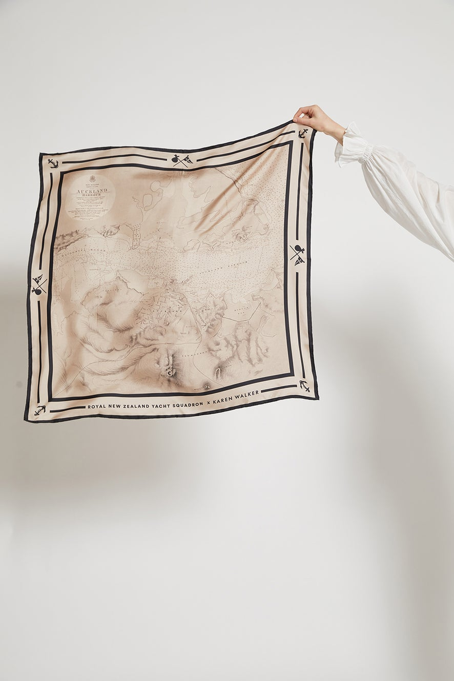 Harbour Map Silk Scarf