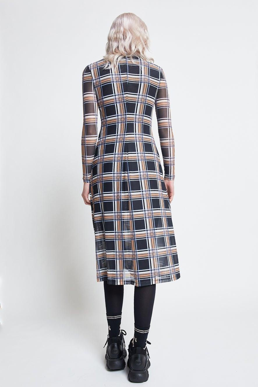 Hi There Checkered Midi Dress