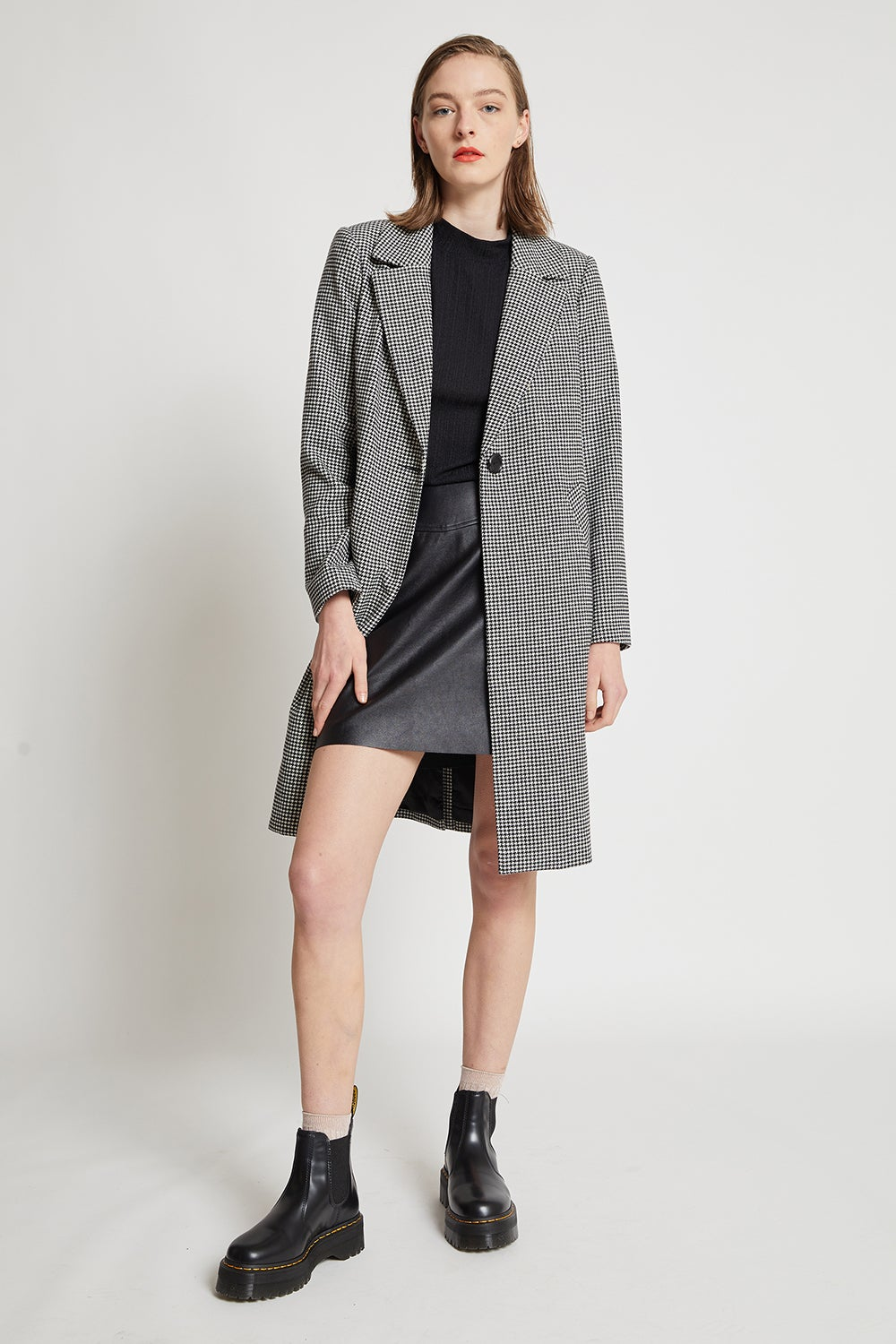 Hi There Mini Houndstooth Coat
