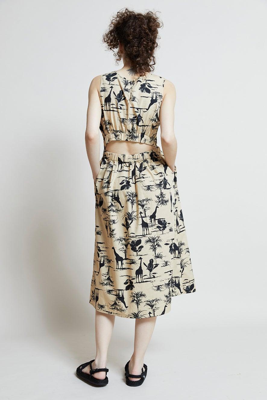 Hi There Safari Midi Dress