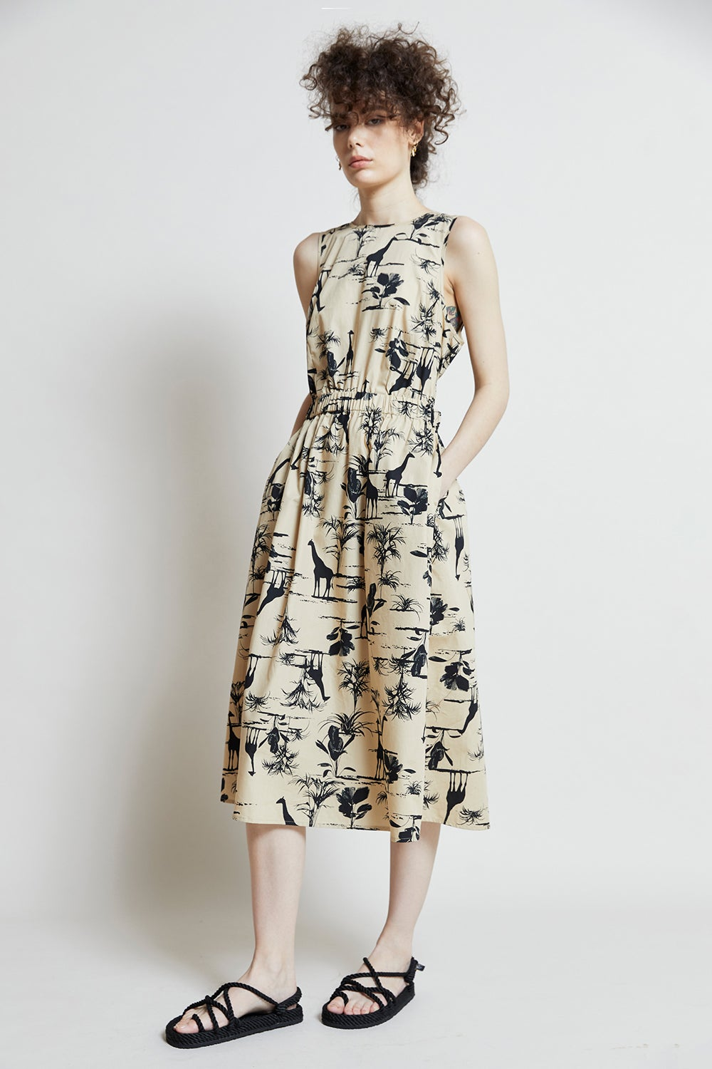 Hi There Safari Midi Dress