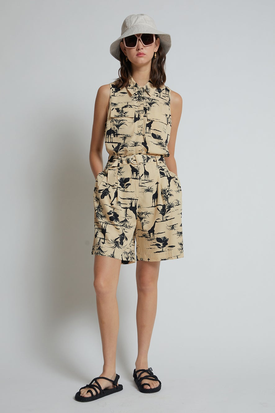 Hi There Safari Shorts