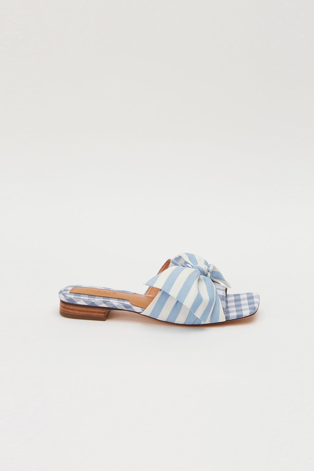 Jaggar Bow Stripe Flat Blue with White