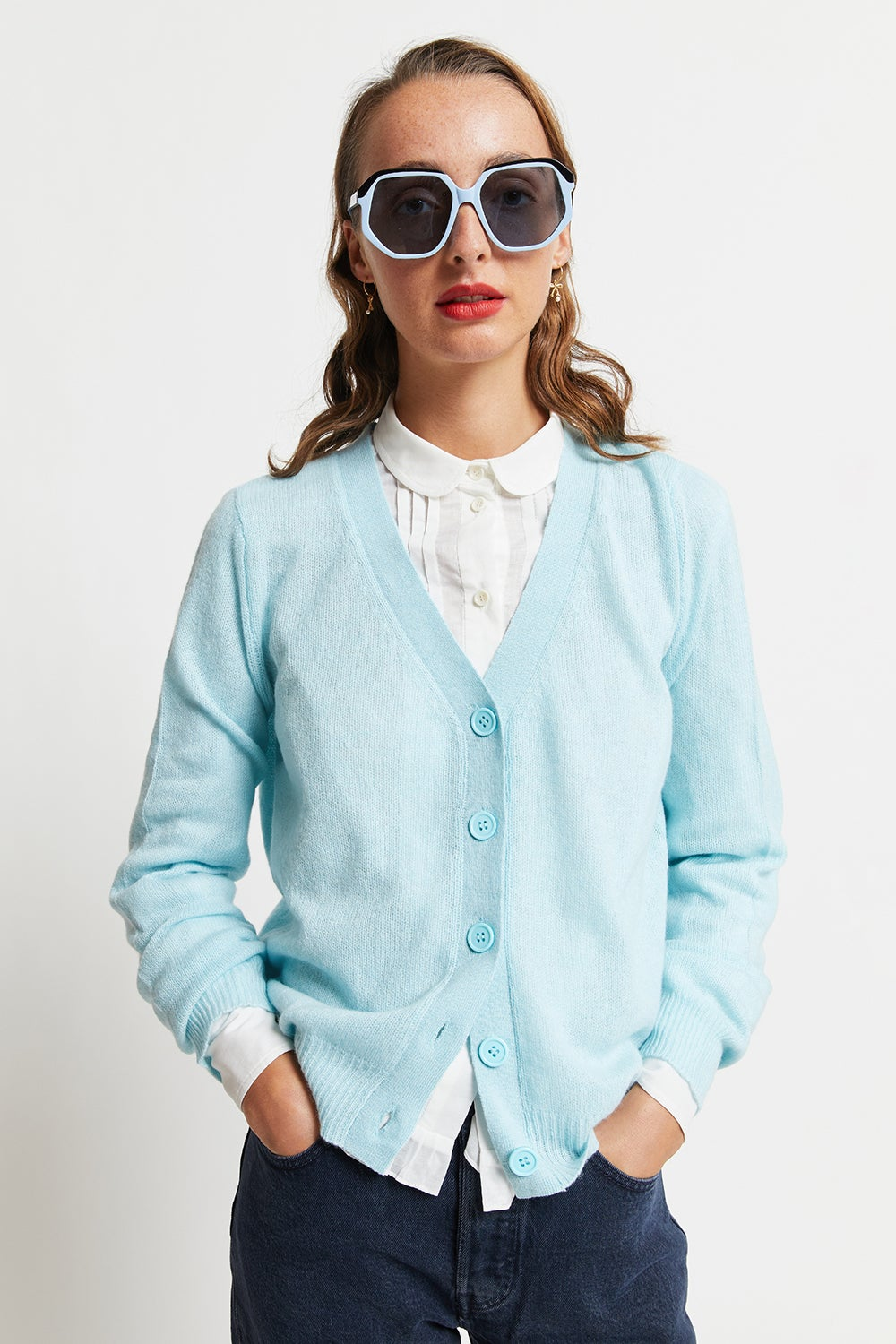 Jumper1234 Loose Vee Cardigan