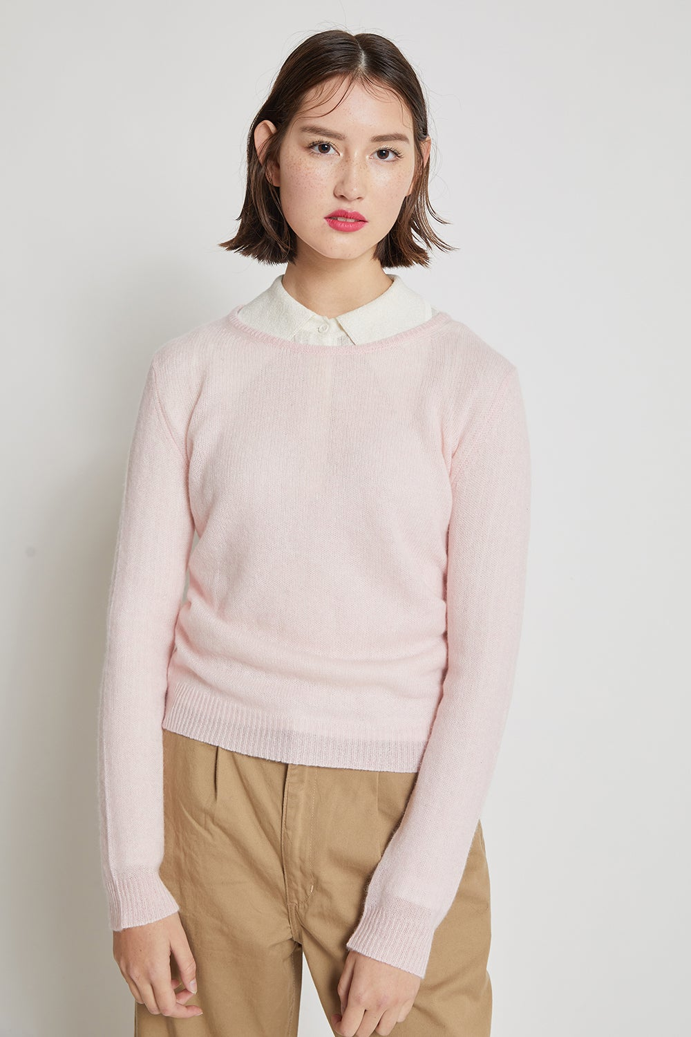 Jumper1234 Loose Knit Crew Neck