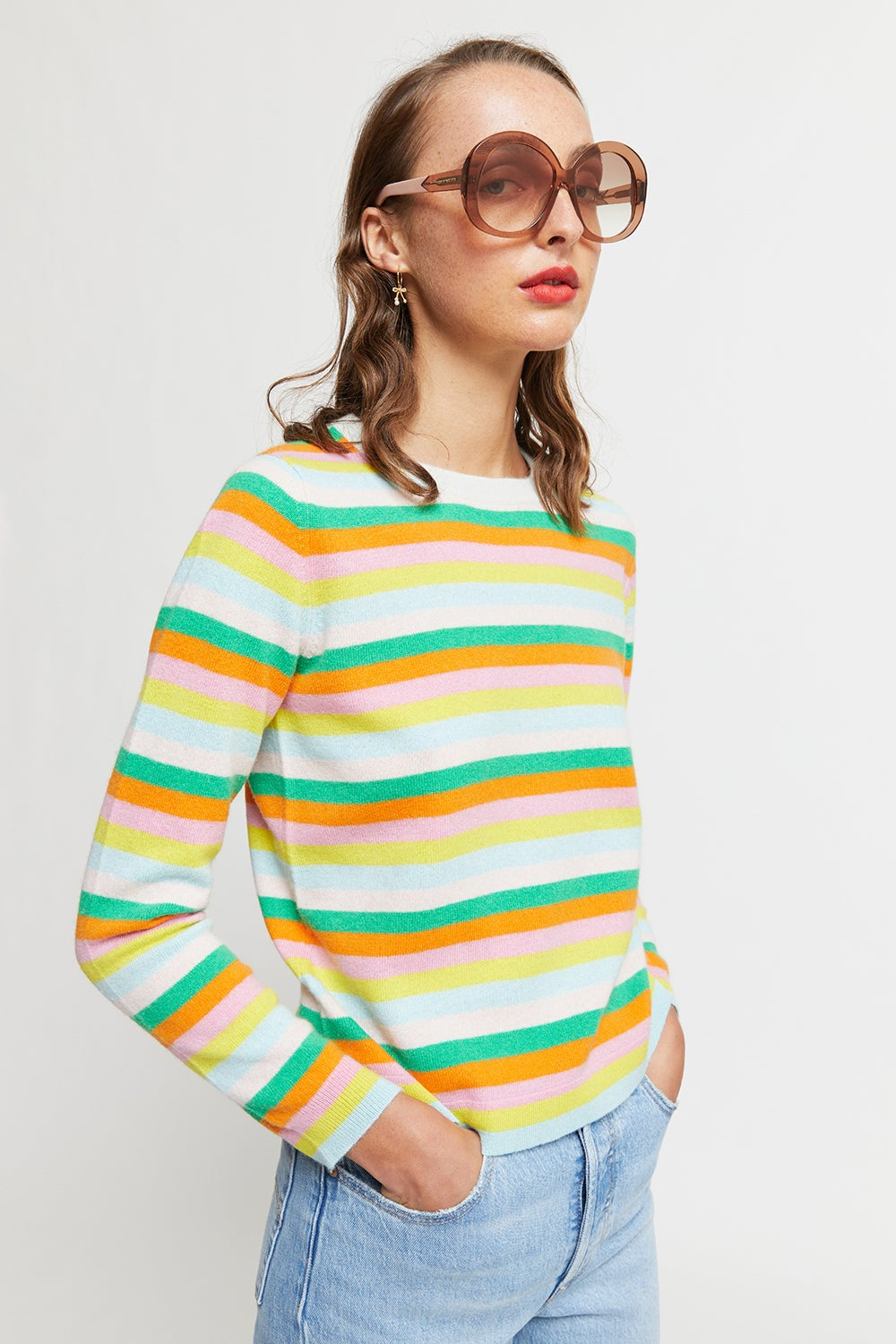 Jumper1234 Mini Multi Stripe Crew