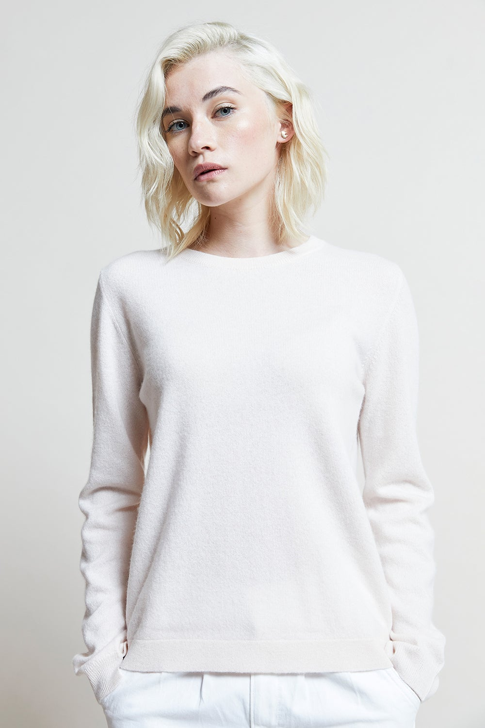 Jumper1234 Split Crew Neck