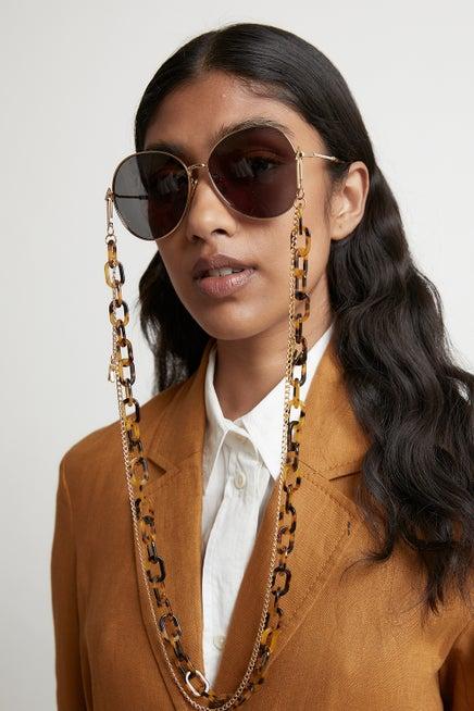 KW Double Eyewear Chain Crazy Tort