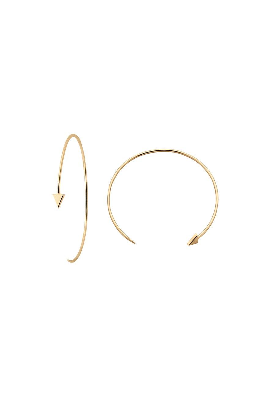 Kinetic Hoop Earrings Gold