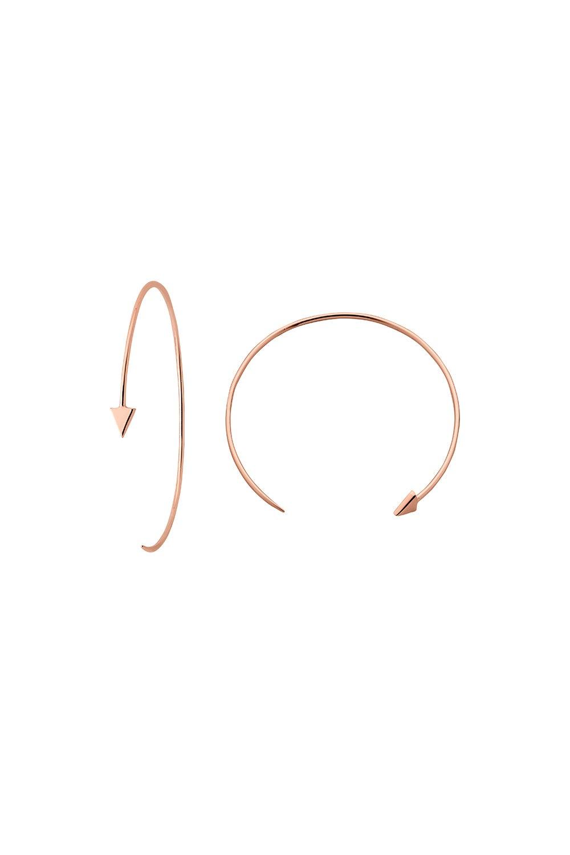 Kinetic Hoop Earrings Rose Gold