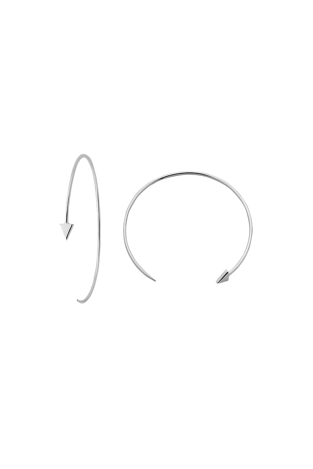 Kinetic Hoop Earrings Silver