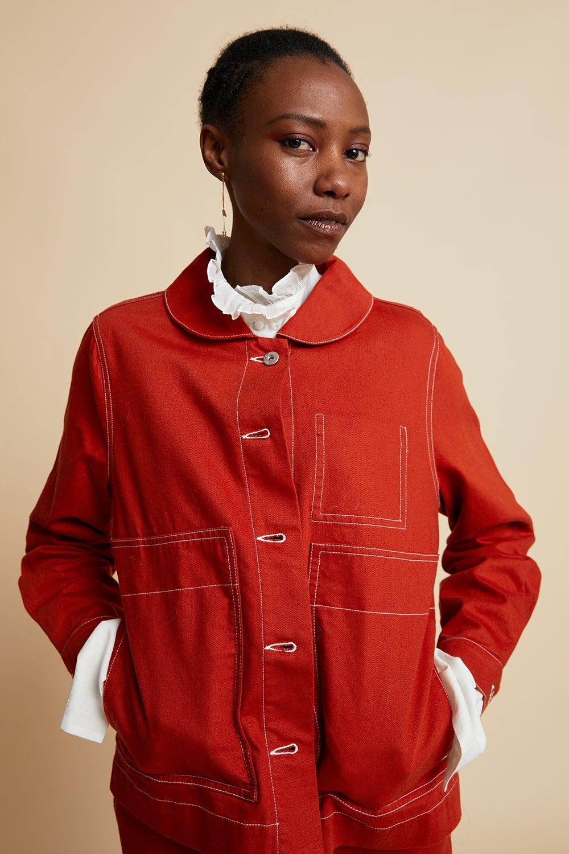 Kowtow Blueprint Jacket Brick Denim