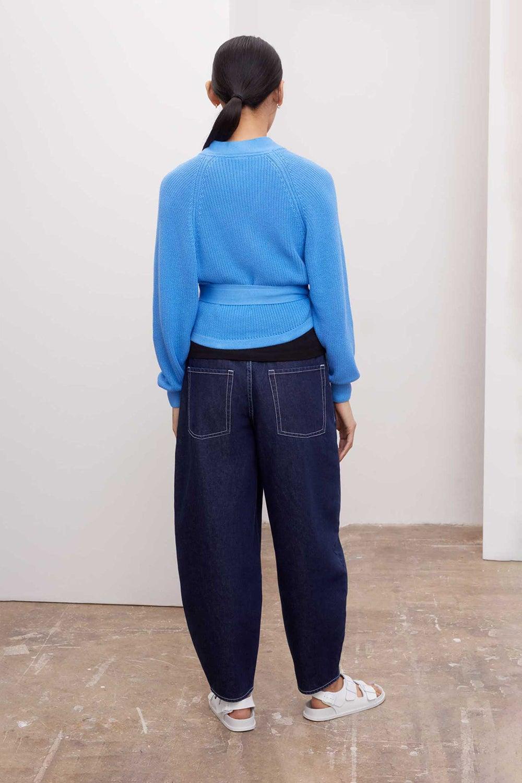 Kowtow Composure Cardigan Blue