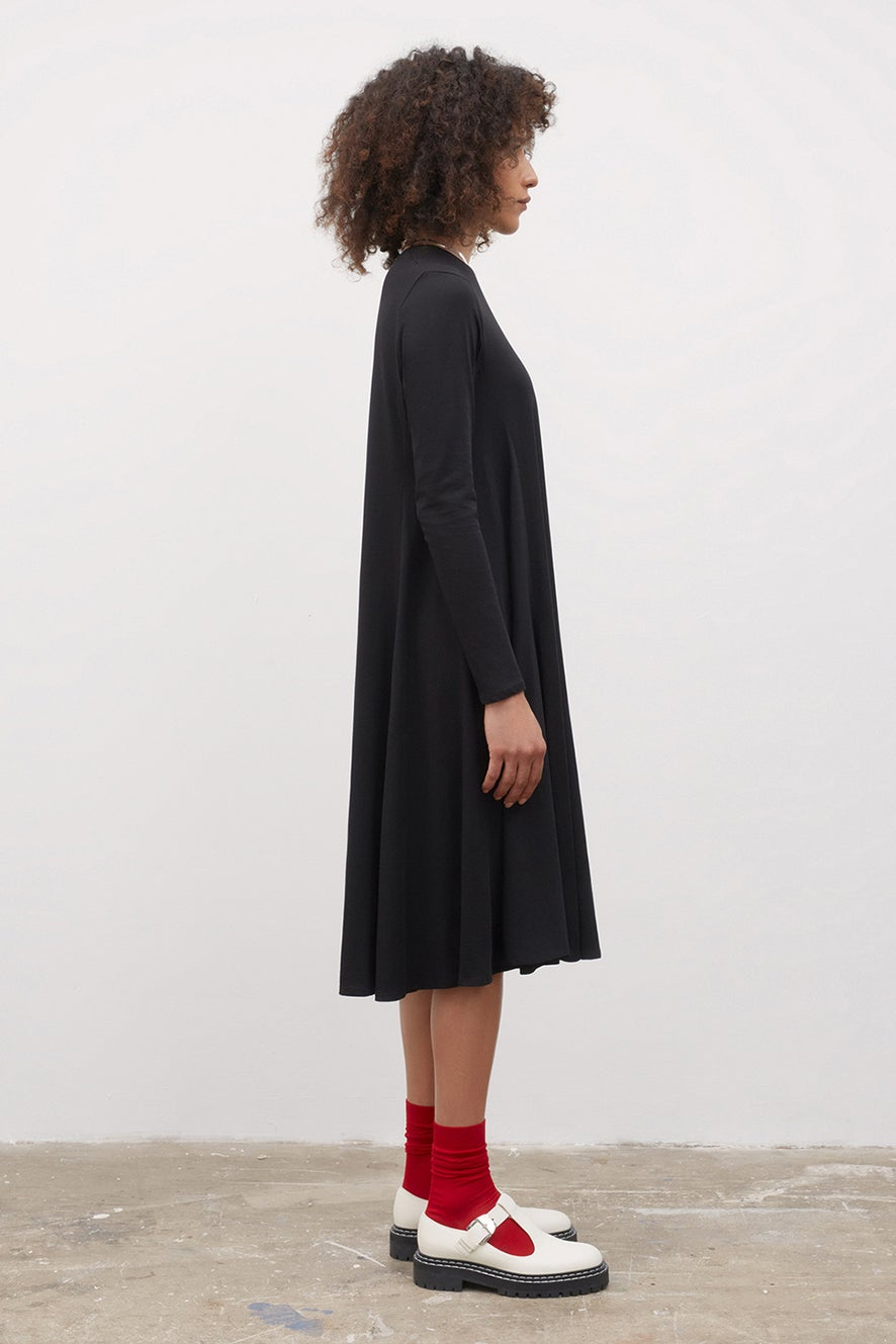 Kowtow Long Sleeve Dress Black