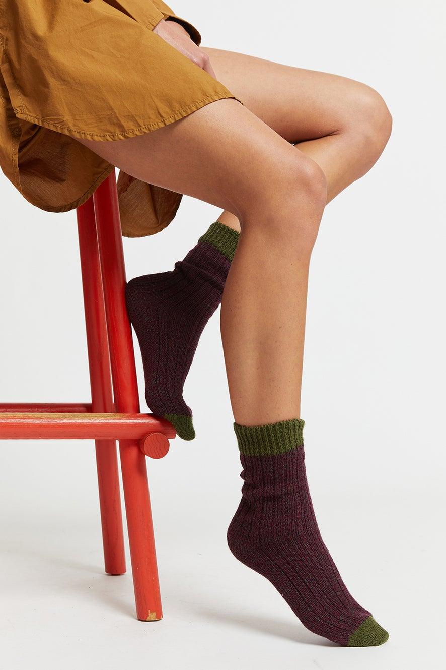 Kurt Payne x Karen Walker Hand-Cranked Rib Socks