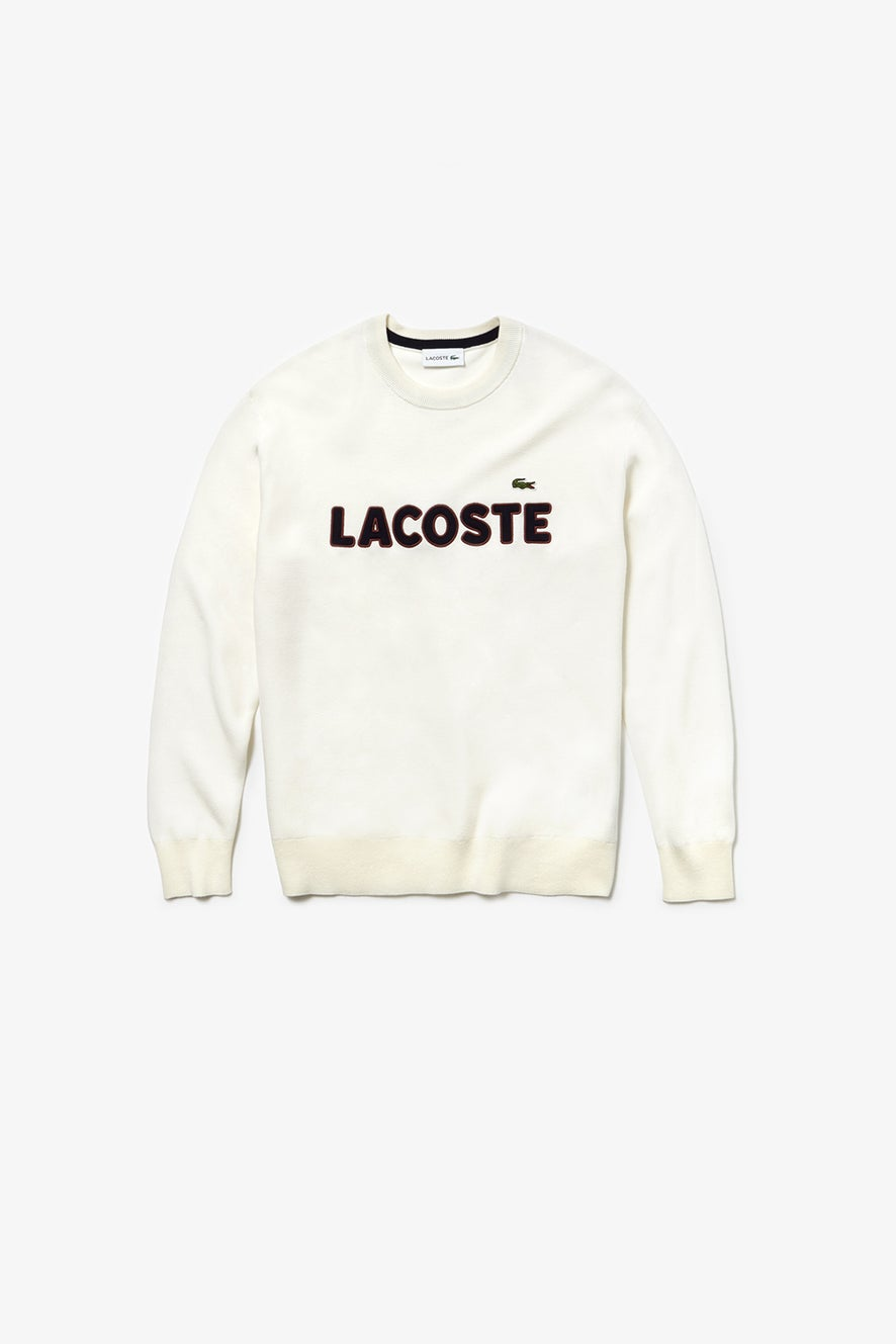 Lacoste Crew Neck Lettering Sweater
