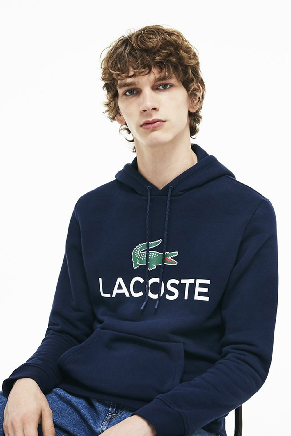 Lacoste Hooded Logo Pull Over