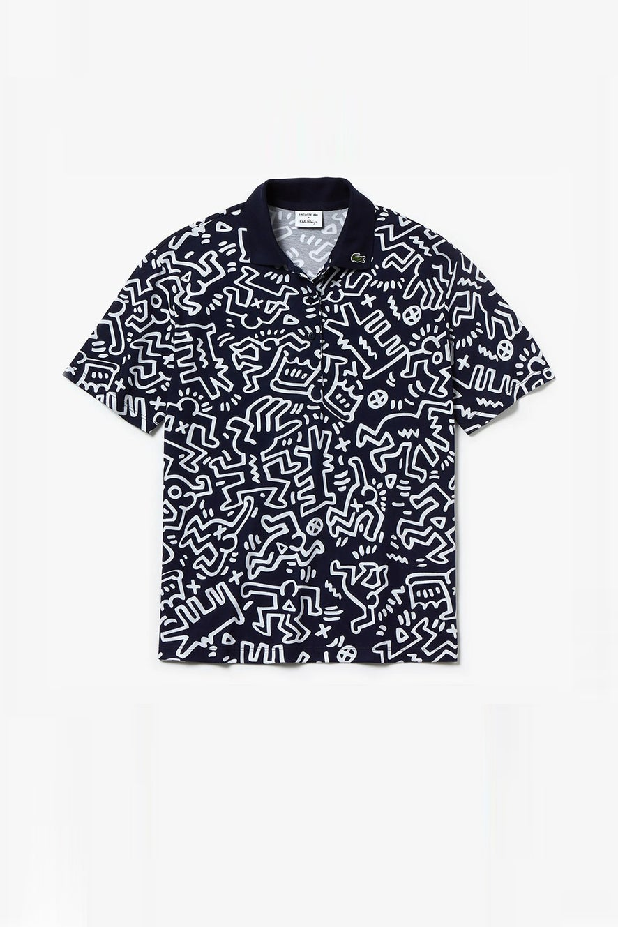 Lacoste Keith Haring Print Polo Shirt