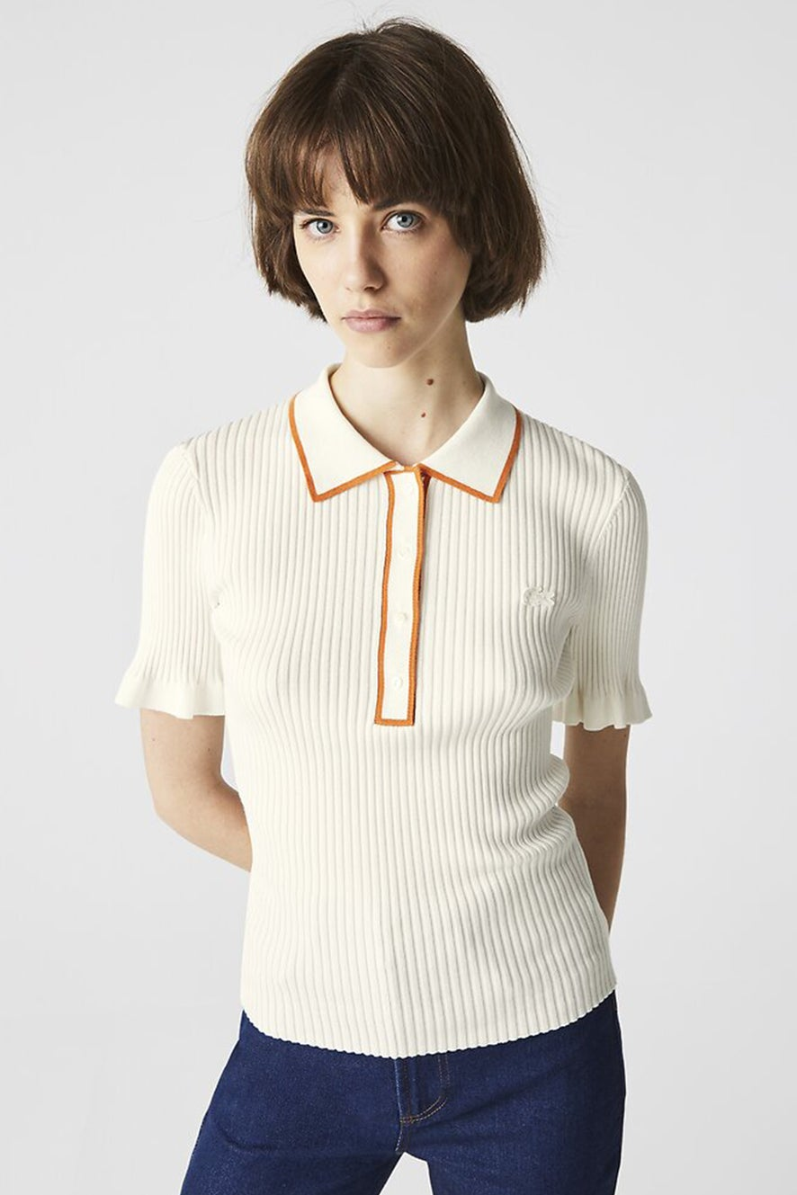 Lacoste Knitted Short Sleeve Polo Flour/Fango