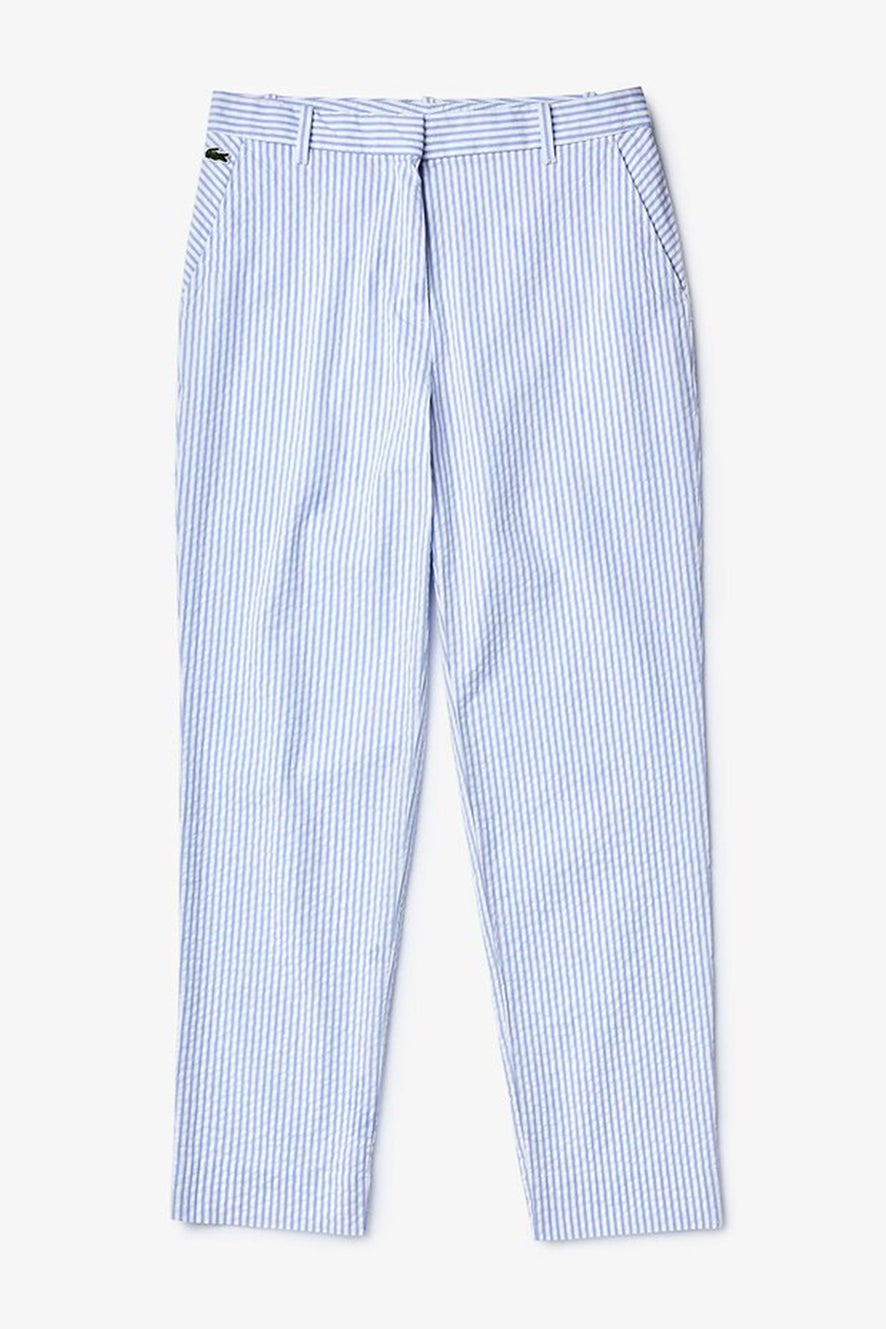 Lacoste L!ve City Stripes Seersucker Trousers