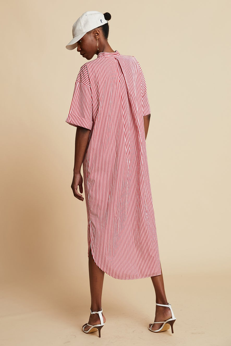 Lacoste L!ve City Stripes Shirt Dress