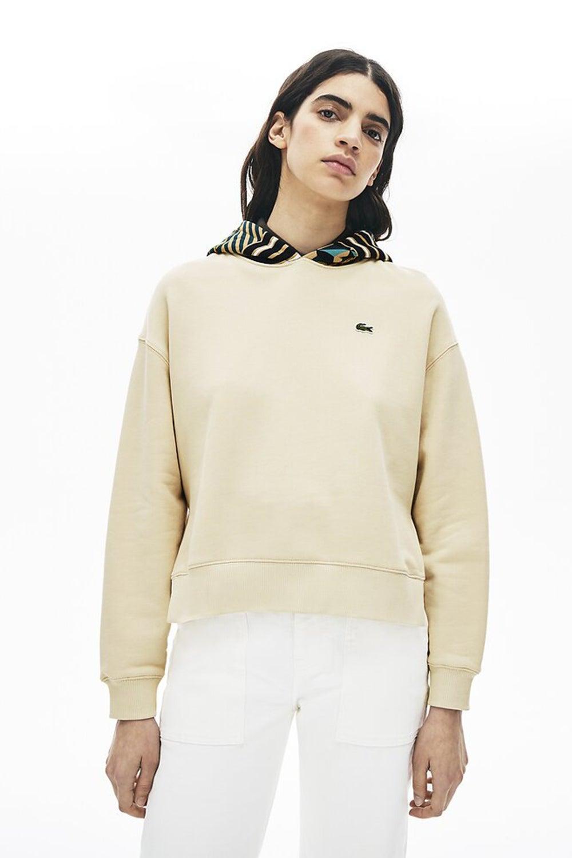Lacoste L!ve Print Hood Sweatshirt