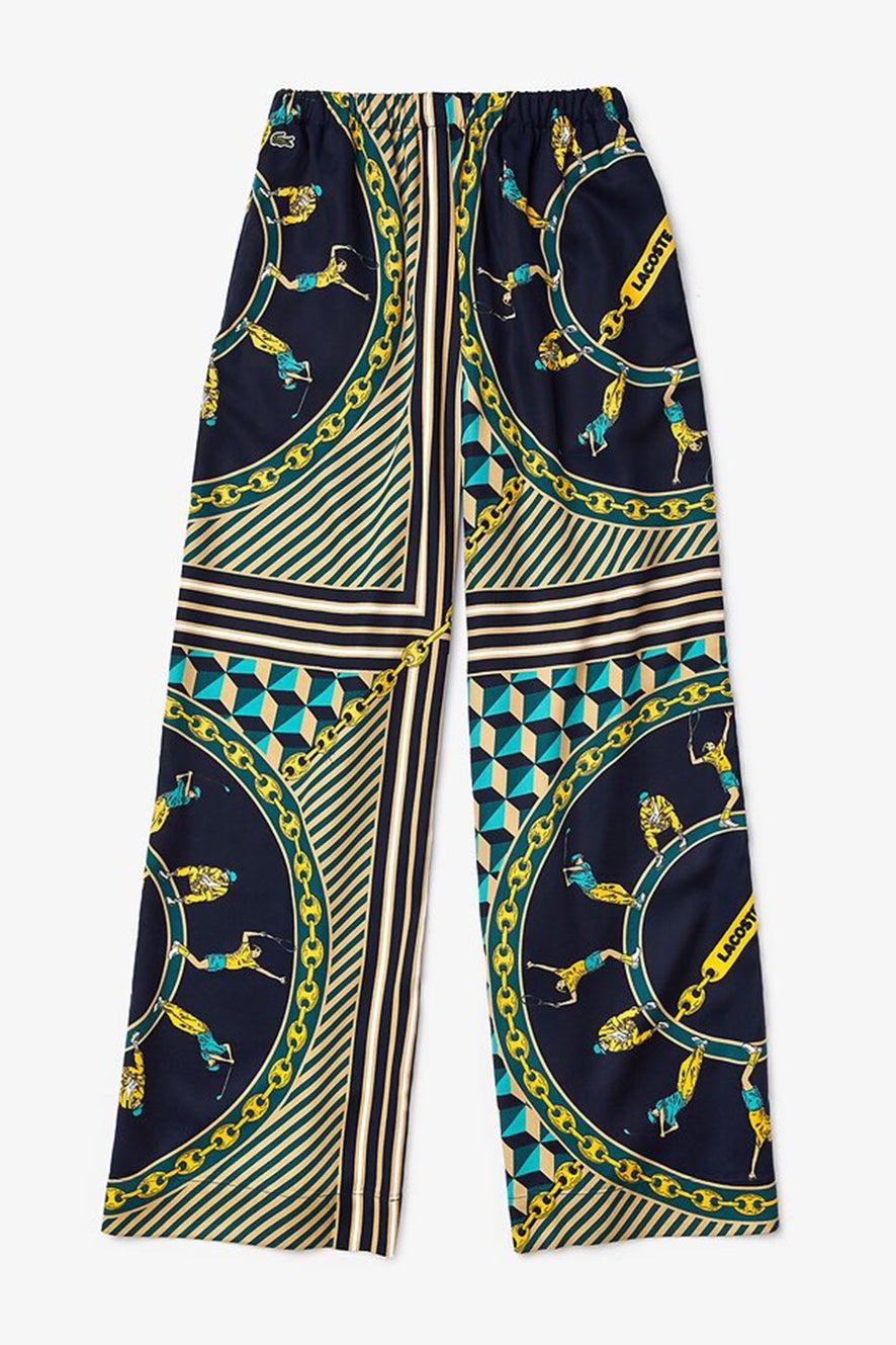 Lacoste L!ve Scarf Print Loose Pants