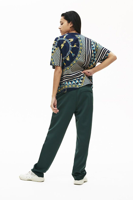 Lacoste L!ve Women's Scarf Print T-shirt