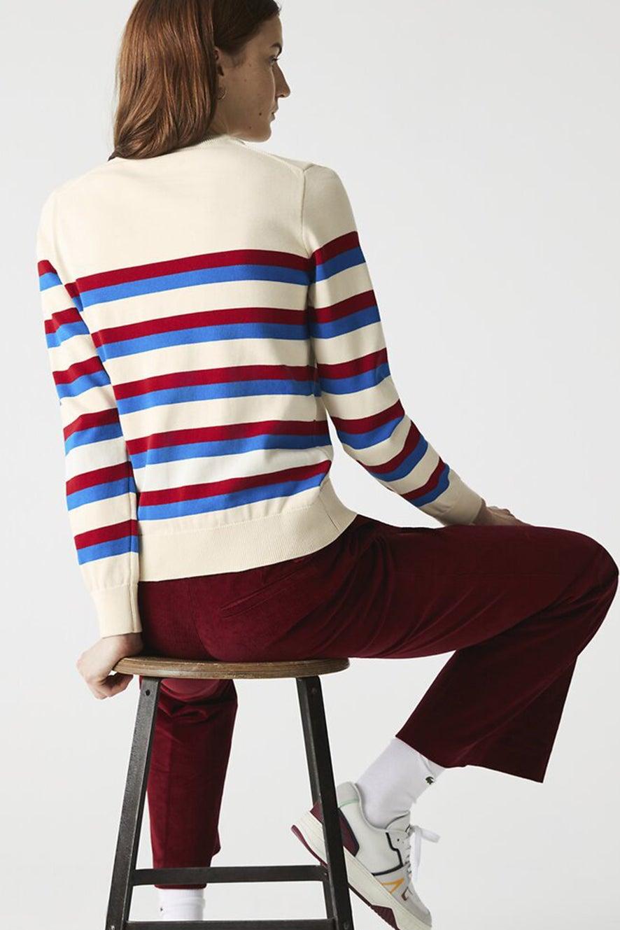 Lacoste MIF Knit Beige/Blue/Red