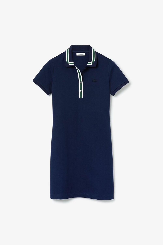 Lacoste Semi Fancy Ribbon Collar Polo Dress