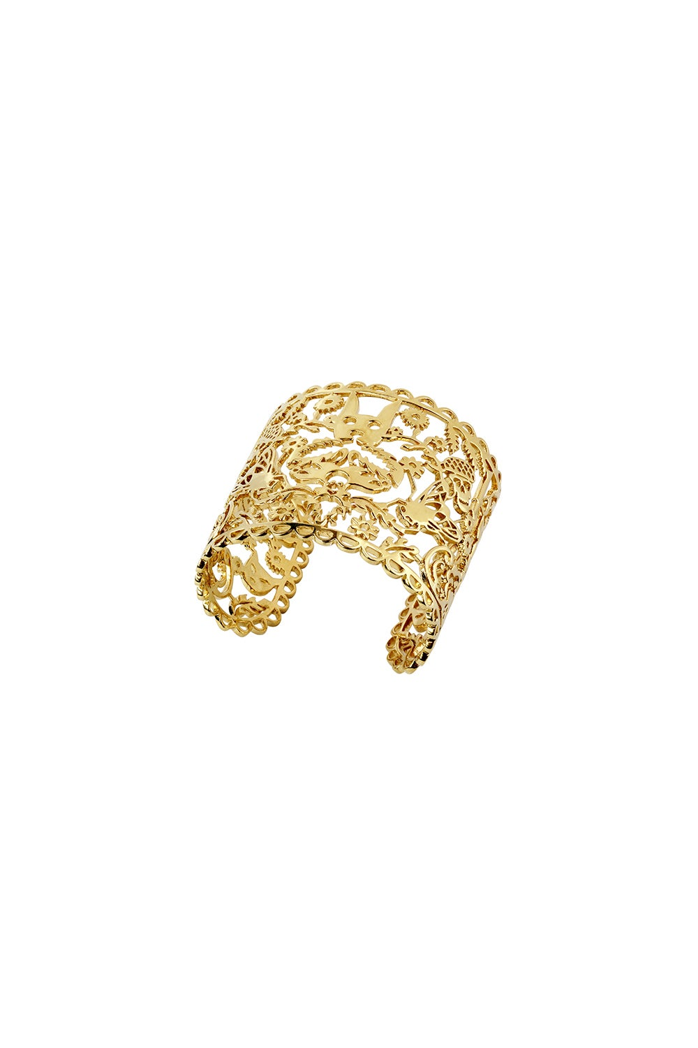 Large Filigree Cuff Gold
