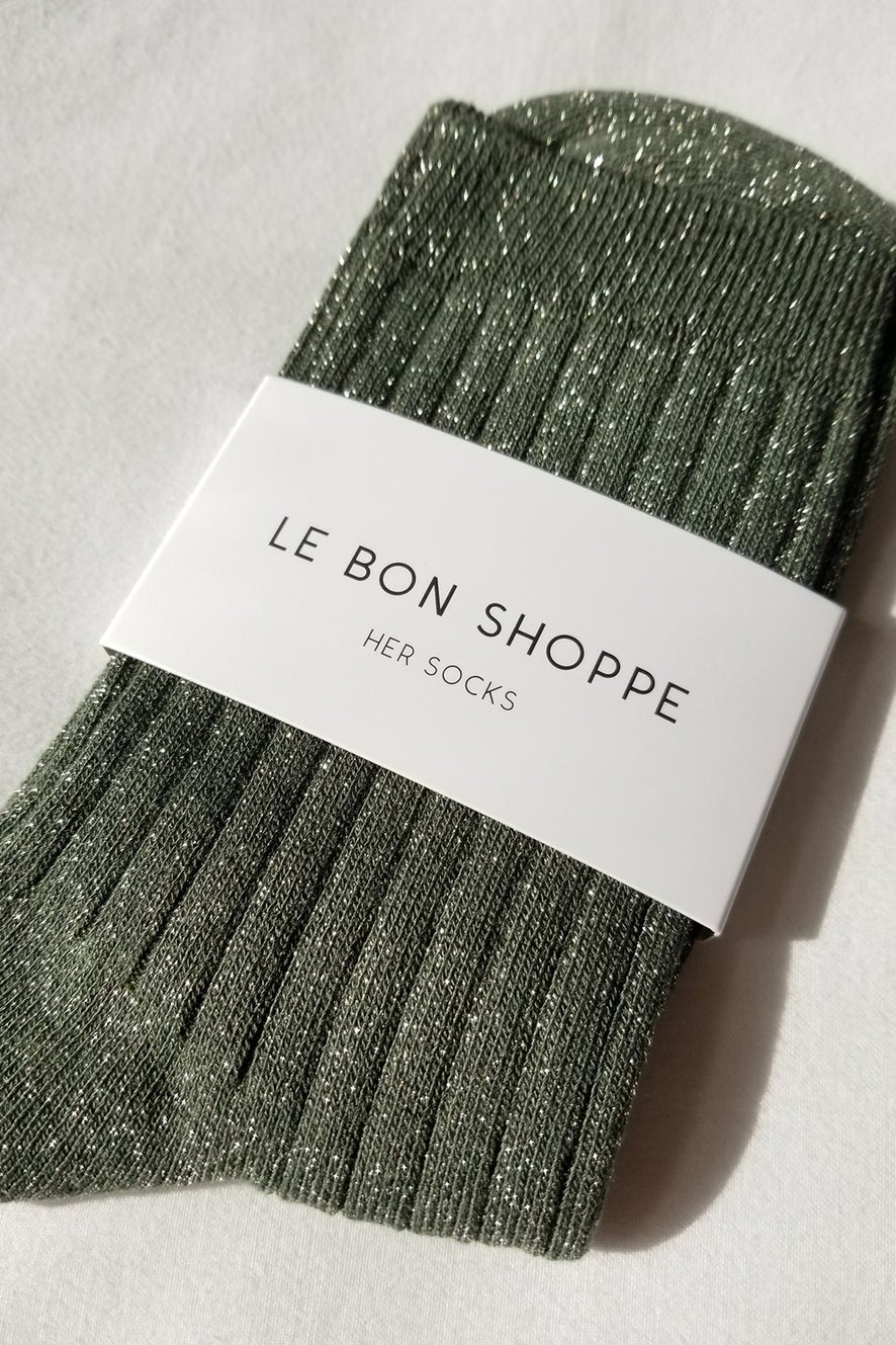 Le Bon Shoppe Her Socks Lurex