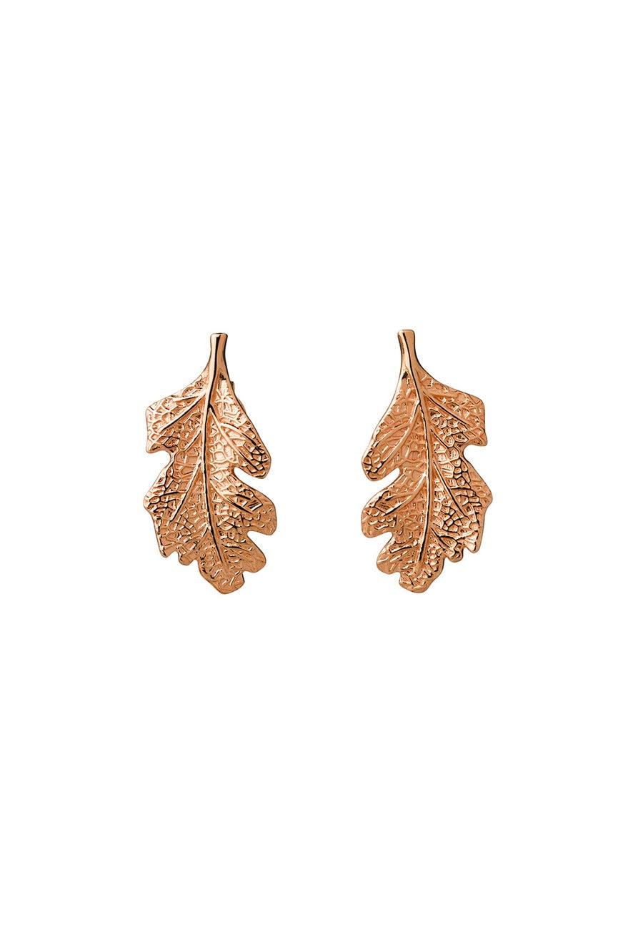 Leaf Studs Rose Gold