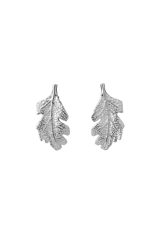 Leaf Studs Silver