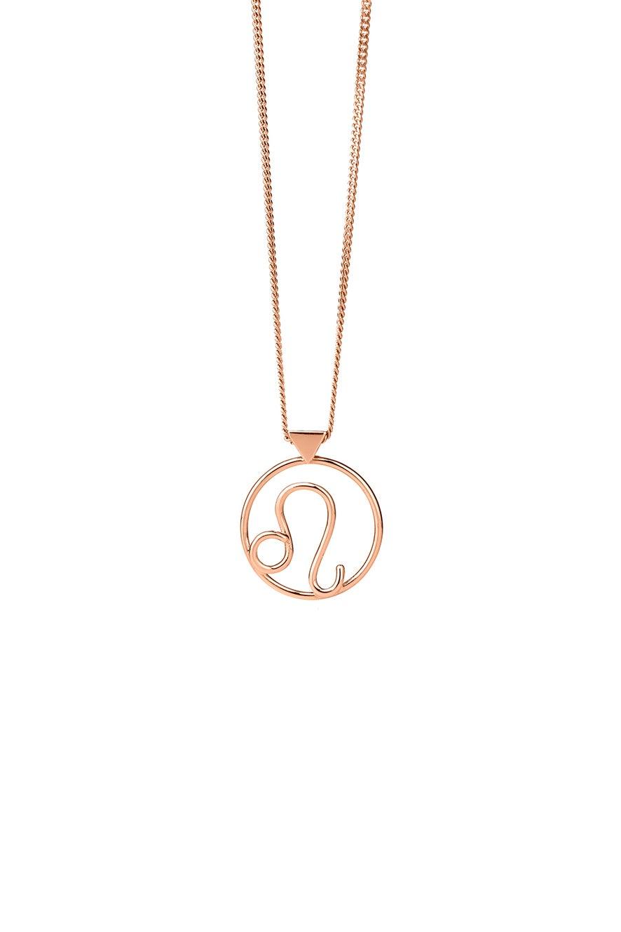 Leo Necklace Rose Gold