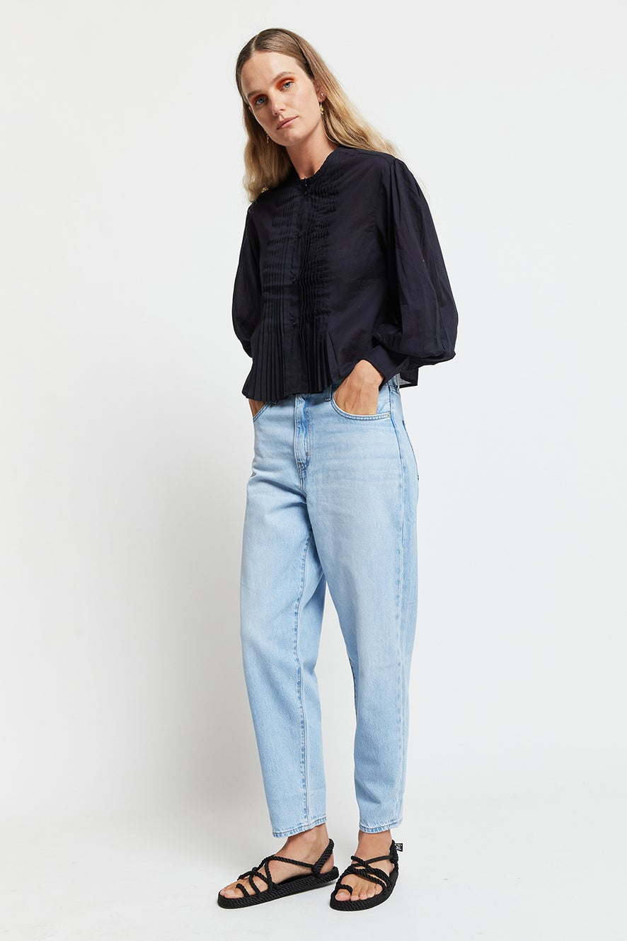 levi's High Loose Taper Jeans Near Sighted Tencel