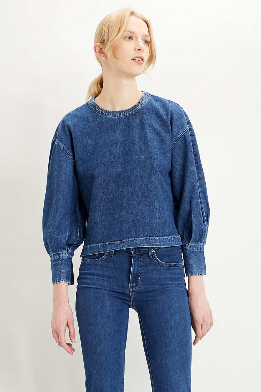Levi's Holly Denim Blouse Skippin' Stones