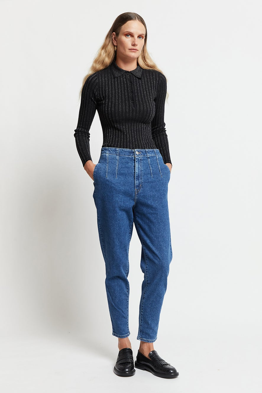 Levi's Hollywood High Waist Taper Jeans Stop Calling Me