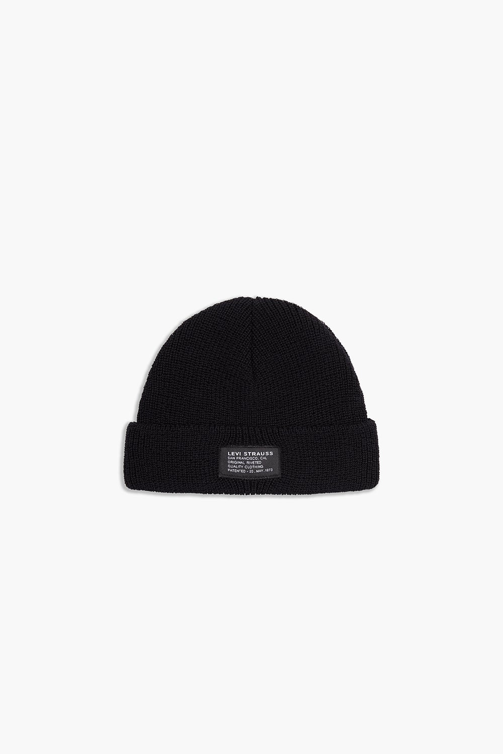 Levi's Knitted Cropped Beanie Black