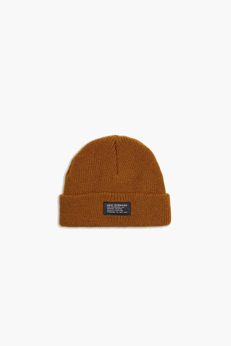 Levi's Knitted Cropped Beanie Khaki