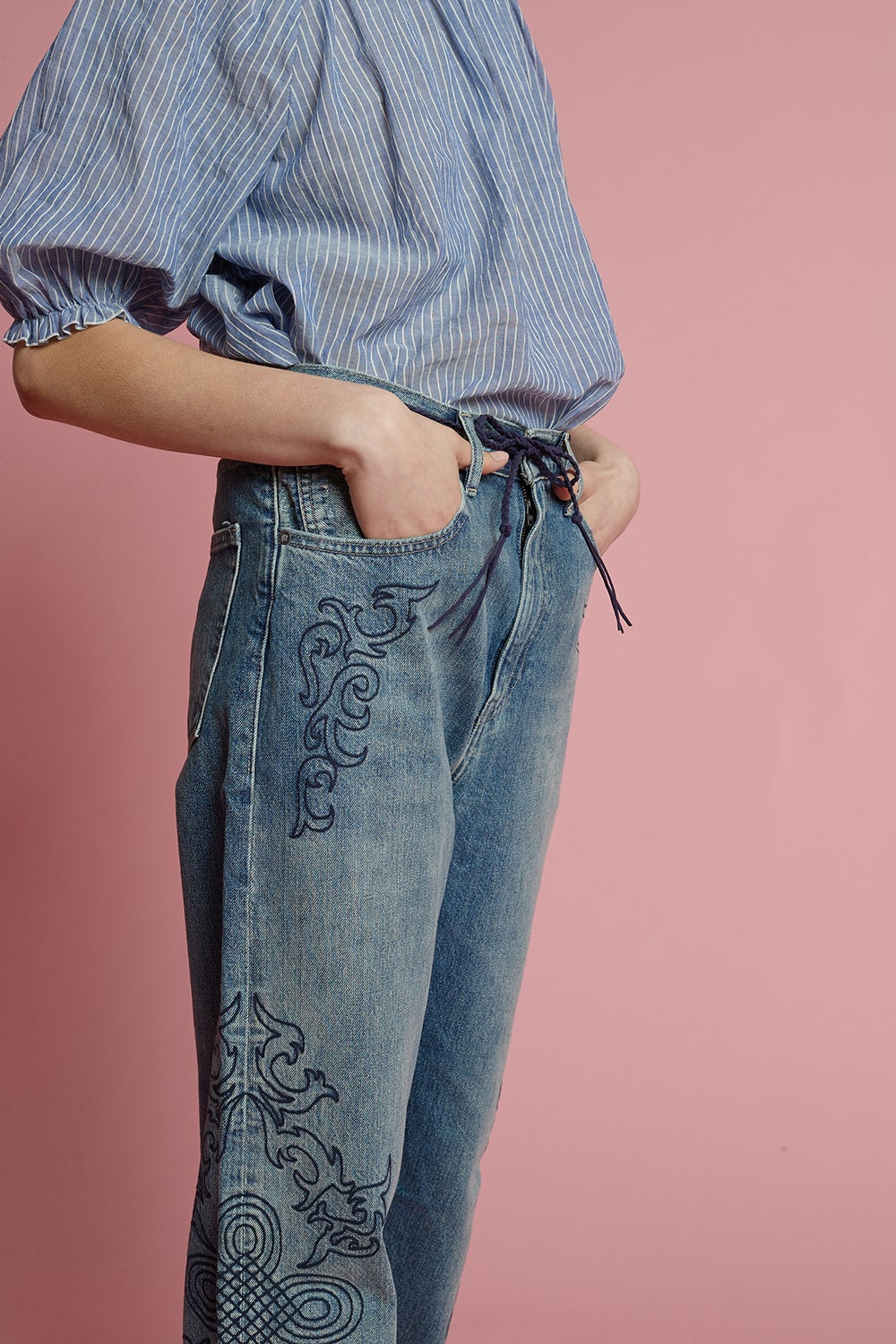 Levi's Made and Crafted Barrel Jeans Blue Soutache