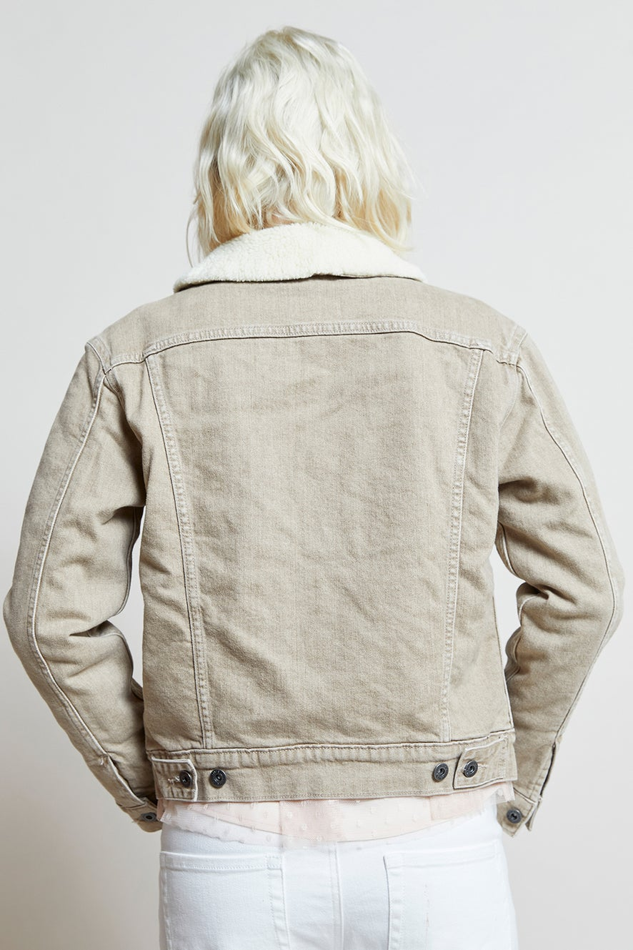 Levi's Made and Crafted Cozy Boyfriend Trucker Hot Toddy