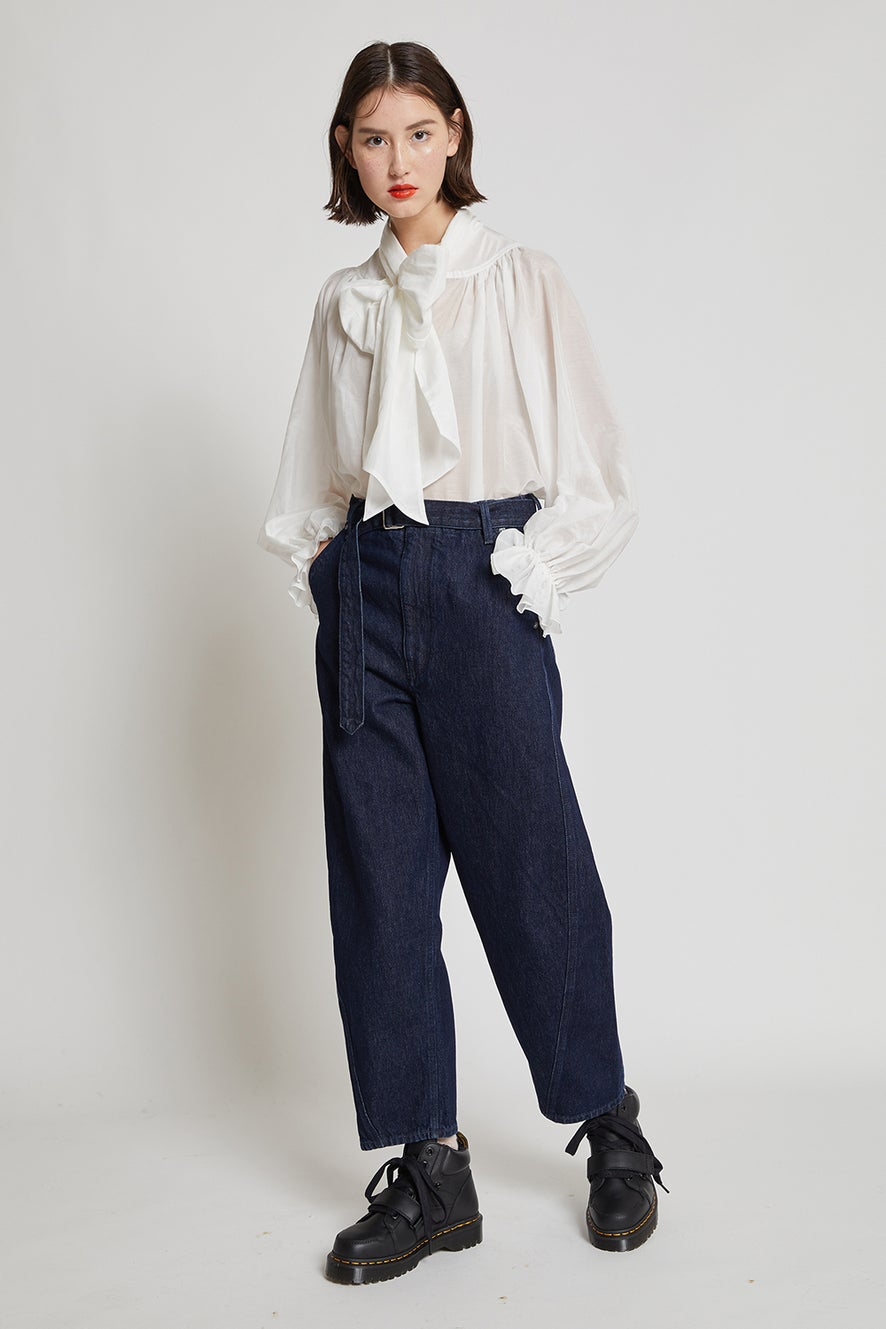 Levi's Made and Crafted Carved Trousers Deep Ice Rinse