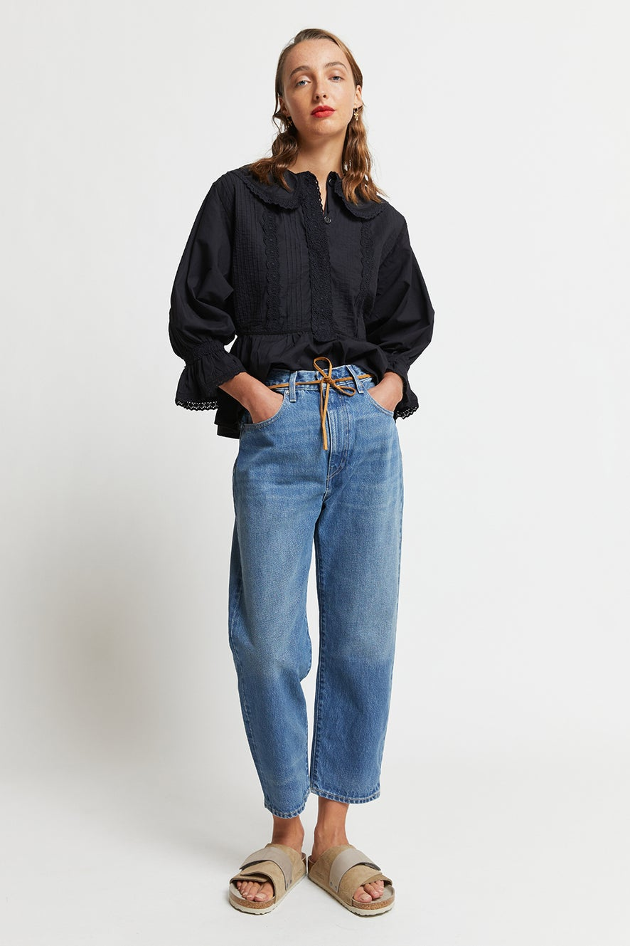 Levi's Made and Crafted Barrel Jeans Provincial Blue