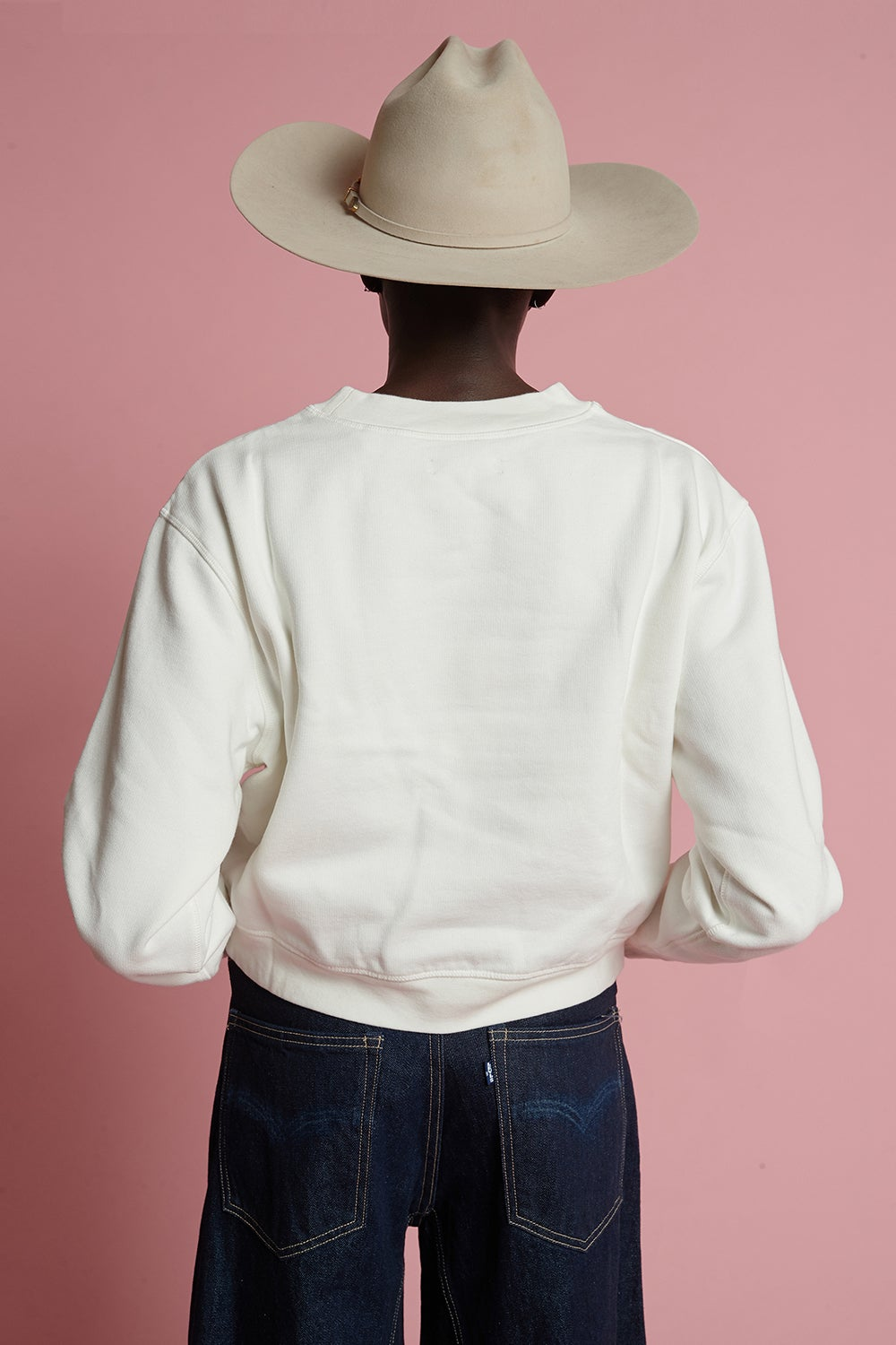 Levi's Made and Crafted Mock Neck Fleece Pristine